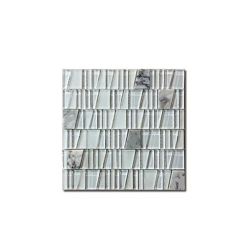 Marble & Galss Mosaic T-Shape