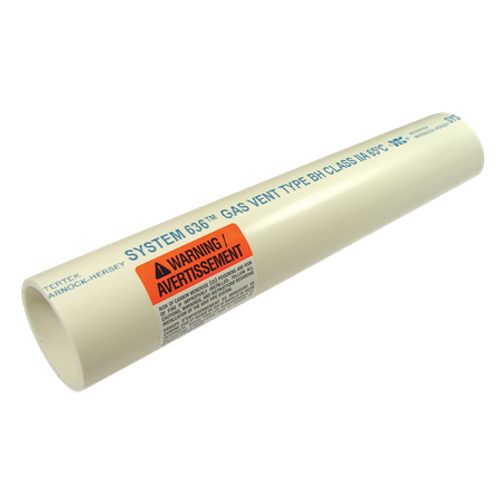 """PVC FLUE GAS VENT PIPE 3""""x10'"""