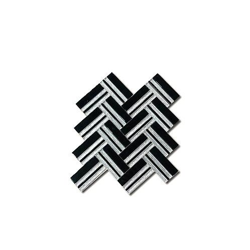 Herringbone Superwhite+Black