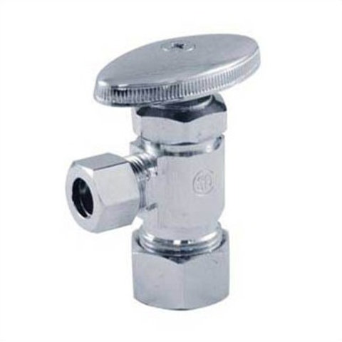 "SUPPLY STOP VALVE ANGLE 5/8"" OD COMP x 1/2"" OD COMP LEAD FREE"