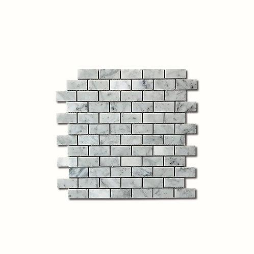 """Marble B.Carrara Brick 1""""x2"""""""