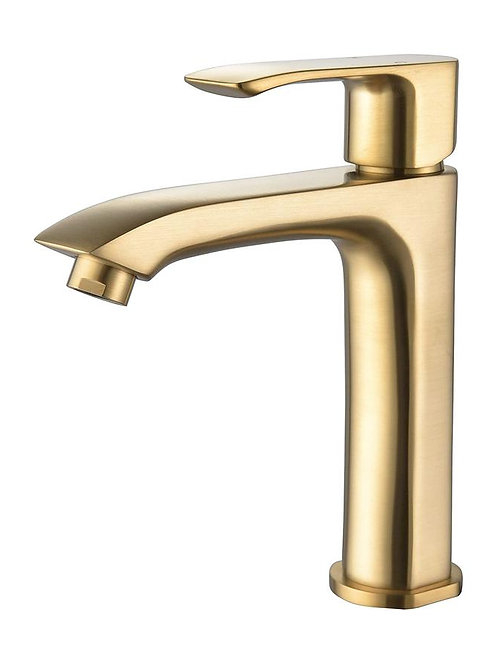 (BRUSHED GOLD) SLIM SINGLE HOLE BATHROOM FAUCET