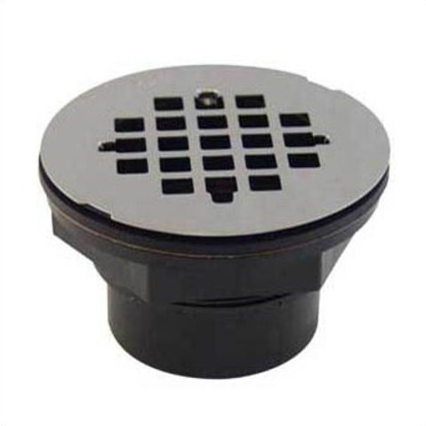SHOWER DRAIN SOLVENT WELD STAINLESS STEEL GRID