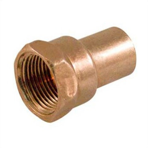 """FITTING COPPER FEMALE ADAPTER 3/4"""" FTG x F"""