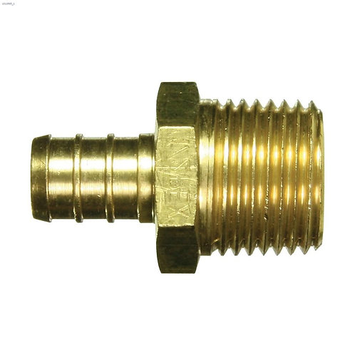 """1/2"""" Barb x MPT Brass PEX Adapter"""