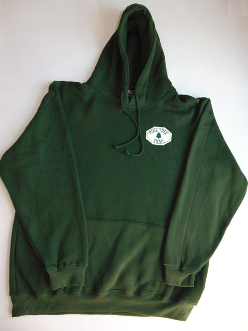 U.S. Made Hooded Sweatshirt w/ Pine Tree Trail Logo