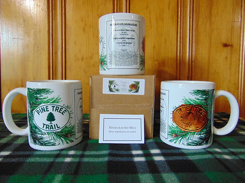 Commemorative Pine Tree Trail 11oz Coffee Mug Made in U.S.A.