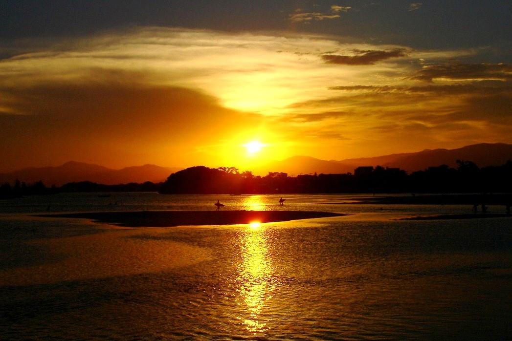 Pôr do Sol visto da trilha