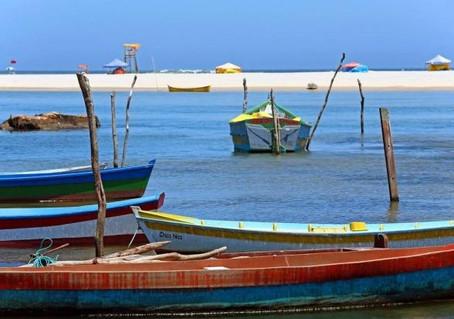 Barcos típicos da Guarda do Embaú
