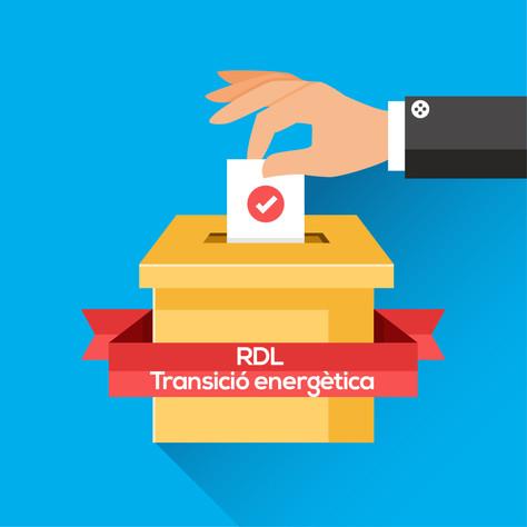 Satisfacció parcial per l'aprovació del RDL per la transició energètica