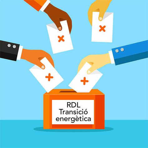 Demanem als diputats catalans al Congrés el vot en contra del RDL per la Transició Energètica
