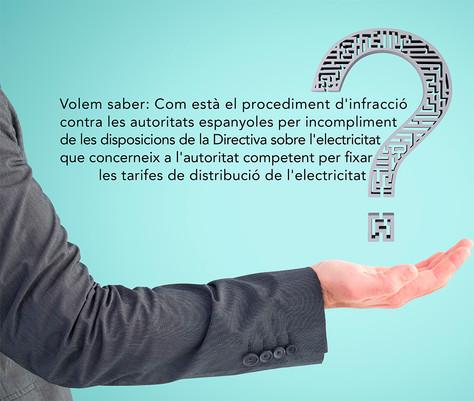 Volem saber com està el procediment d'infracció per discriminació territorial del peatges elèctr