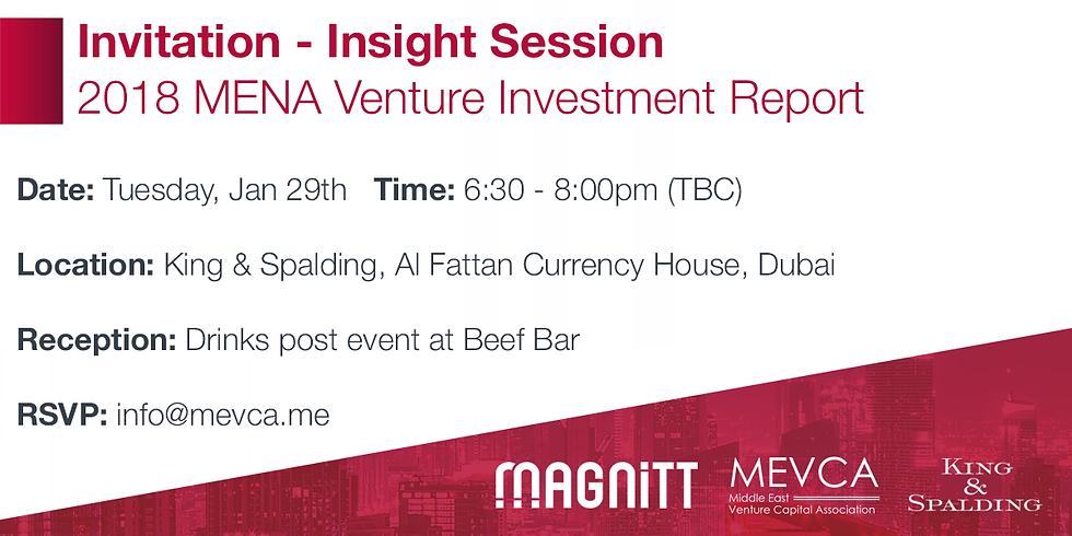 """Insight Session """"2018 MENA Venture Investment Report"""""""