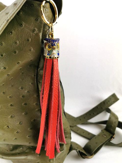 Vintage Cloisonne Thimble Tassel key rings