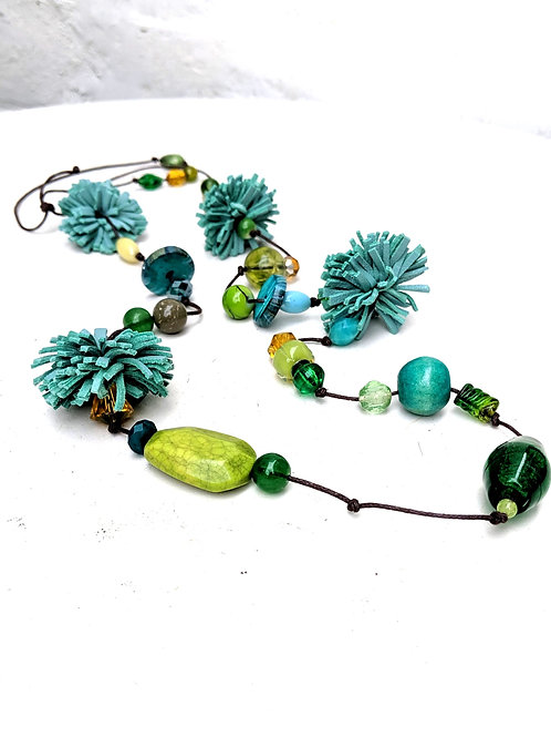 green Poms necklace