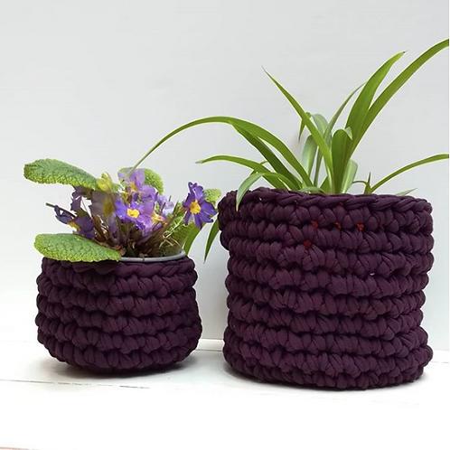 Jersey Crochet Pot Cover