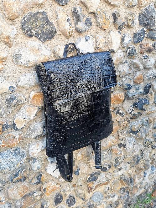 Mock Croc leather Dinky Pal rucksack