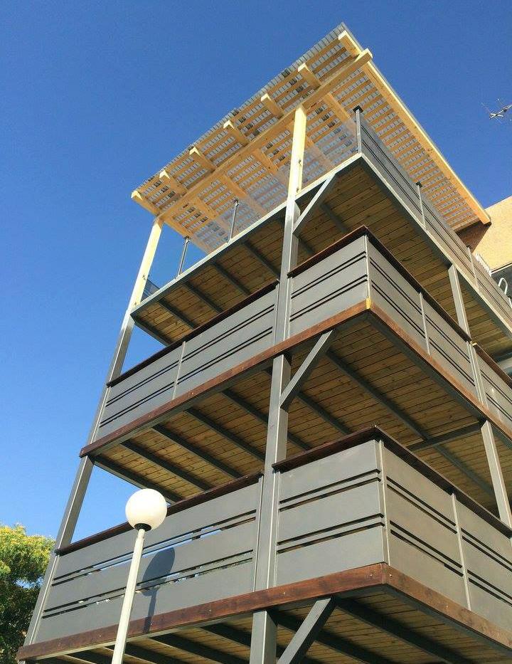 הוספת מרפסות לבניין אחרי