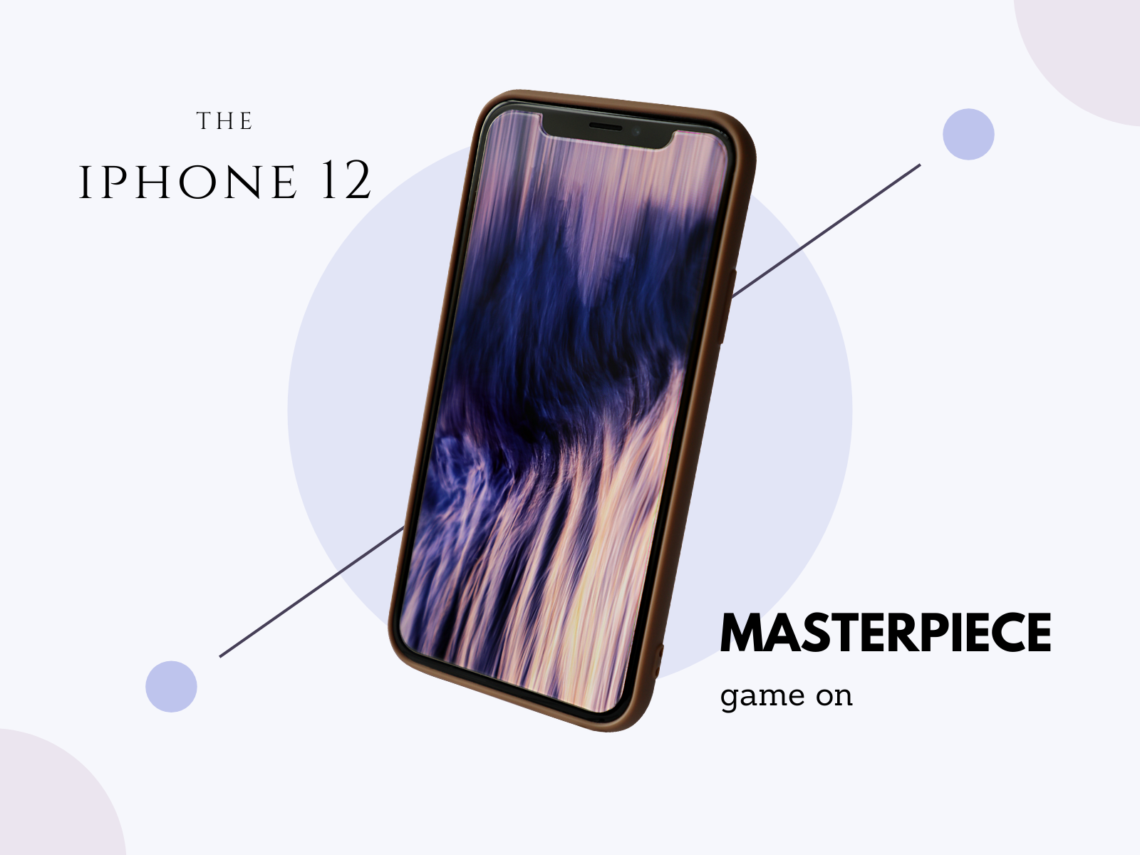 Purple Smartphone Modern Elegance Techno