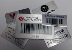 Placas de Aluminio Serigrafiadas