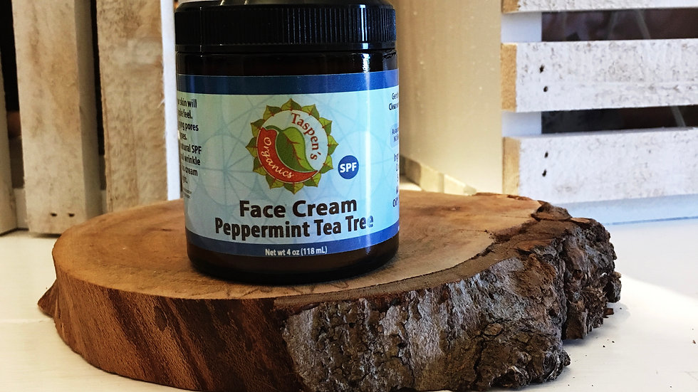 Facial Moisturizing Cream Peppermint Tea Tree 4oz