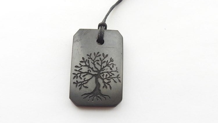 Shungite tree of life necklace