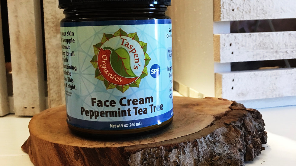 Facial Moisturizing Cream Peppermint Tea Tree 9oz