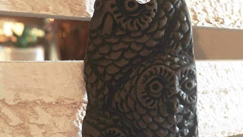 Owl and clay necklace