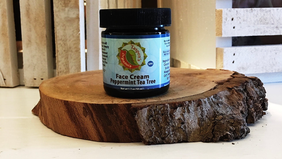 Facial Moisturizing Cream  Peppermint Tea Tree 1.7oz