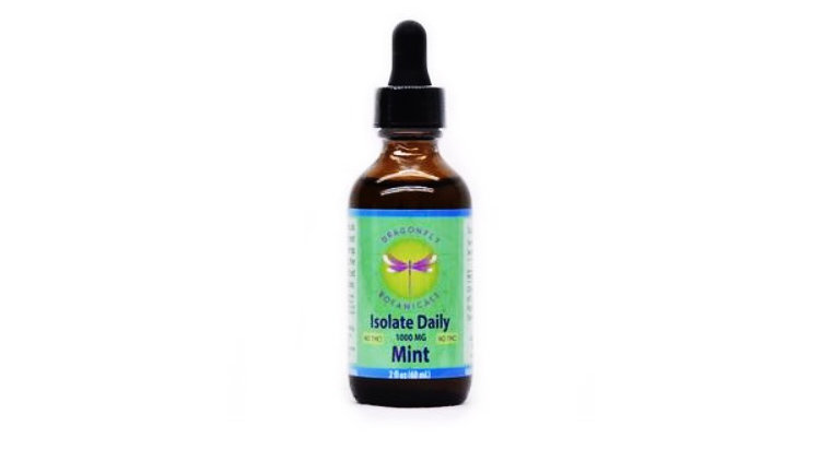 Dragonfly Botanicals Hemp Oil ISOLATE: Mint 2oz