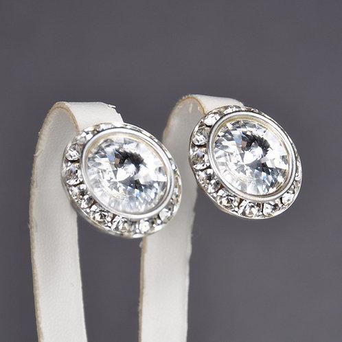 Swarovski Button Earrings