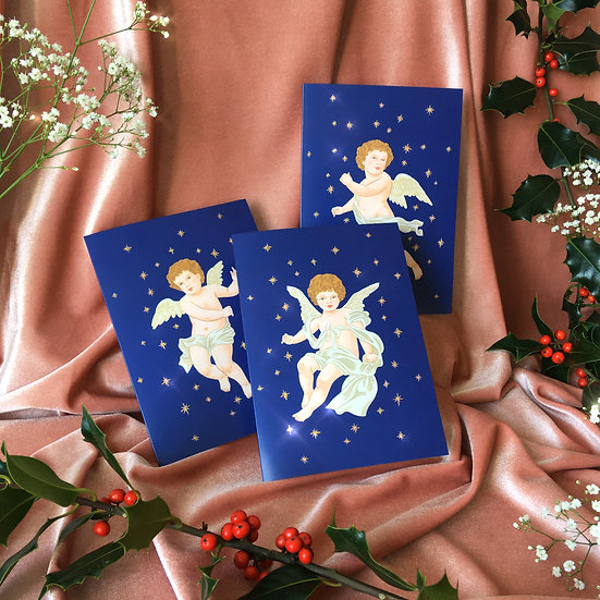 Glitter Angel Christmas Cards