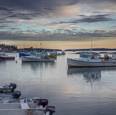 Lobster Boats at Sunset