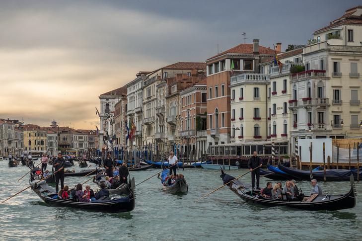 Canal Jam, Venice, Italy