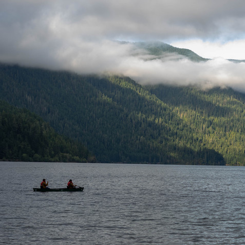 Morning Float - Lake Crescent