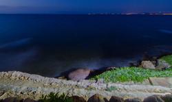 Night sea view