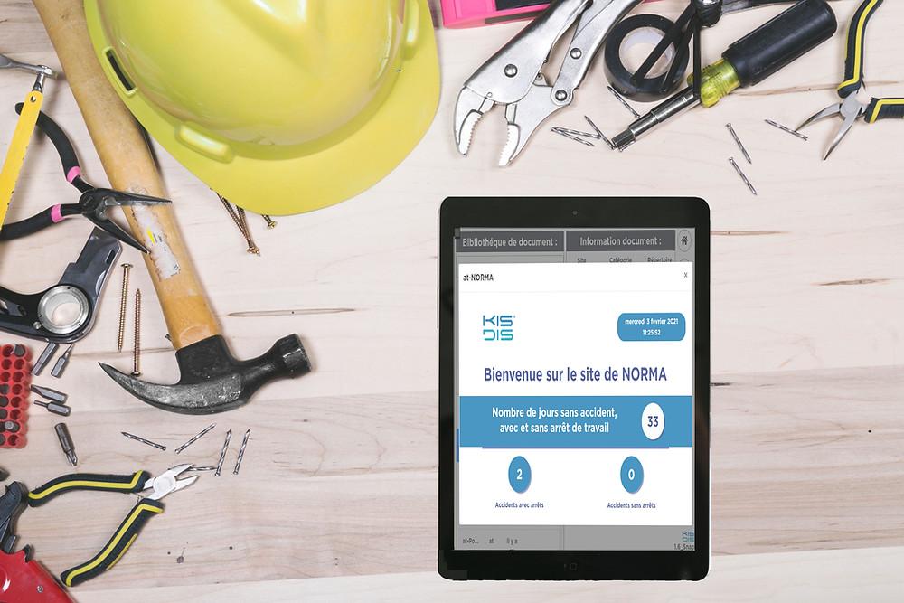 Protection des salariés avec Kisdis - affichage communication interne