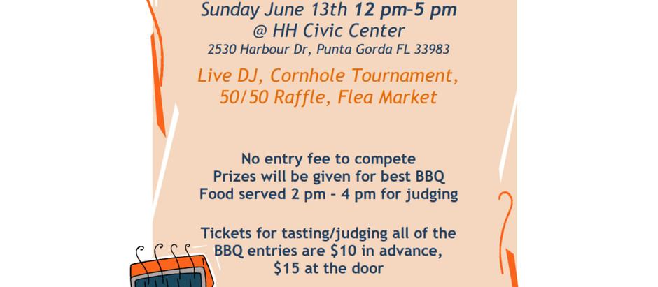 BBQ Competition/FLEA Market -Sunday -June 13th