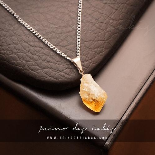 Corrente Inox | Pedra CITRINO