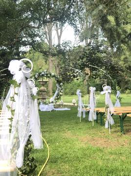 Arche ronde - Allée des mariés