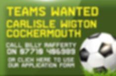 Teams Wanted six a side football