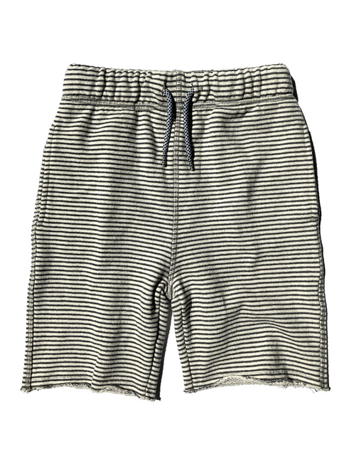 Grey Stripe Camp Shorts