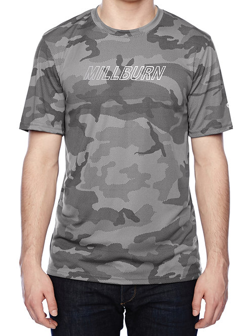 Millburn Champion Performance Camo Shirt with reflective logo