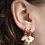 Thumbnail: Yellow Owl Workshop - Gold Rainbow & Lightning Earrings