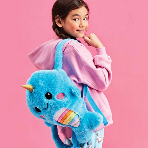 Plush Narwhal Backpack