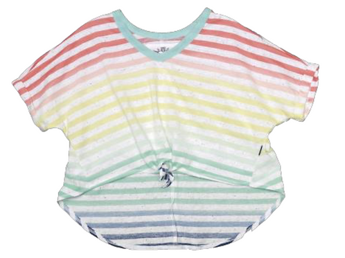 T2Love  Striped Tie Front Shirt