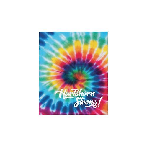 Hartshorn Strong Tie-Dye Print Throw Blanket