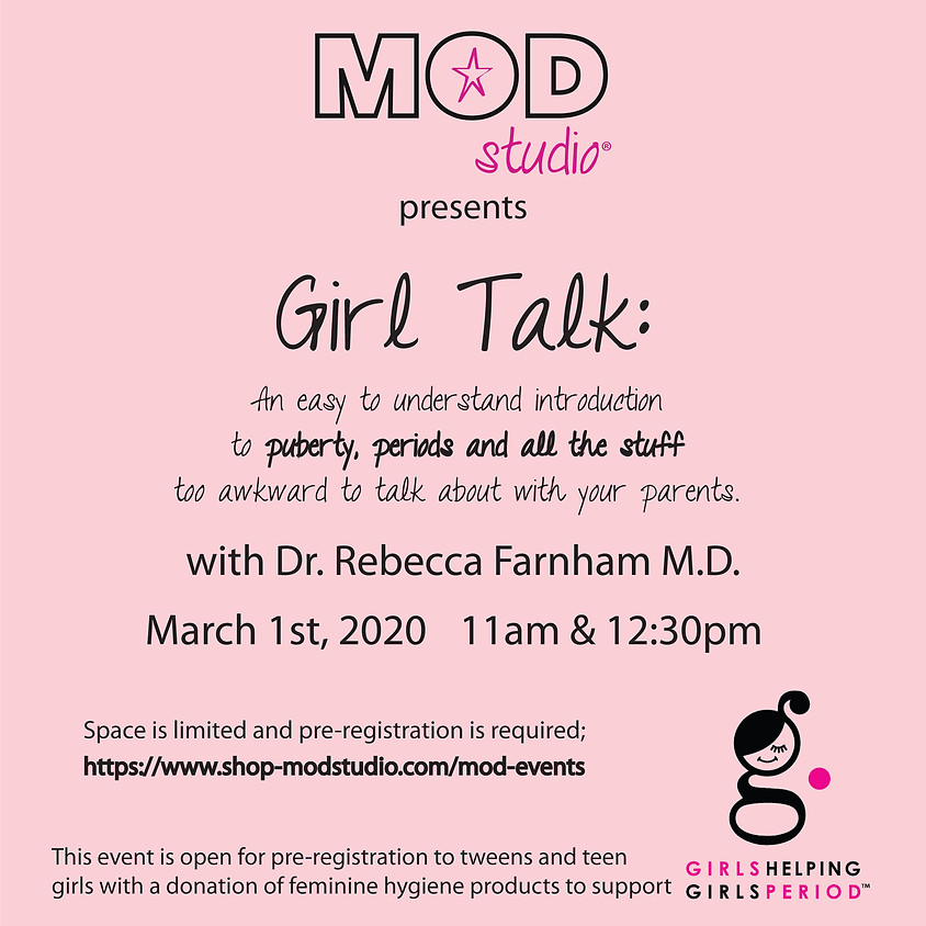 11am Girl Talk with Dr Rebecca Farnham