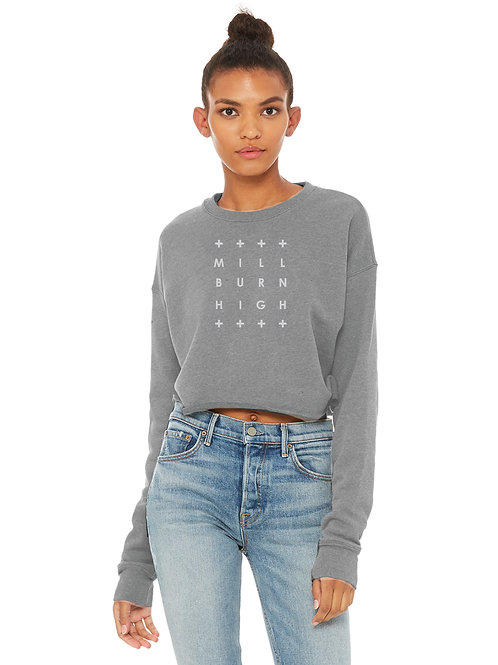 Cropped Millburn High Grid Graphic Sweatshirt