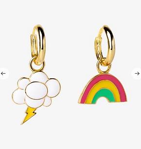 Yellow Owl Workshop - Gold Rainbow & Lightning Earrings